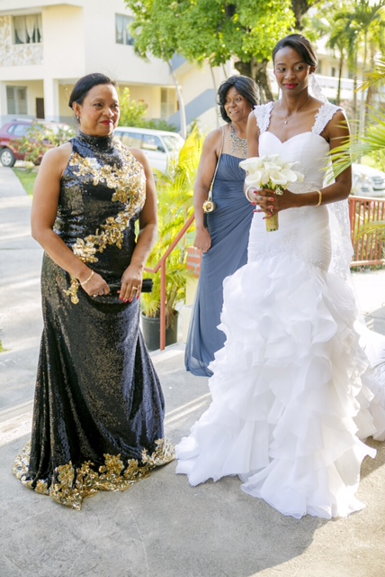 Mae Lynn Mathon And mother- Custom Bridal Gownby MeJeanne Couture