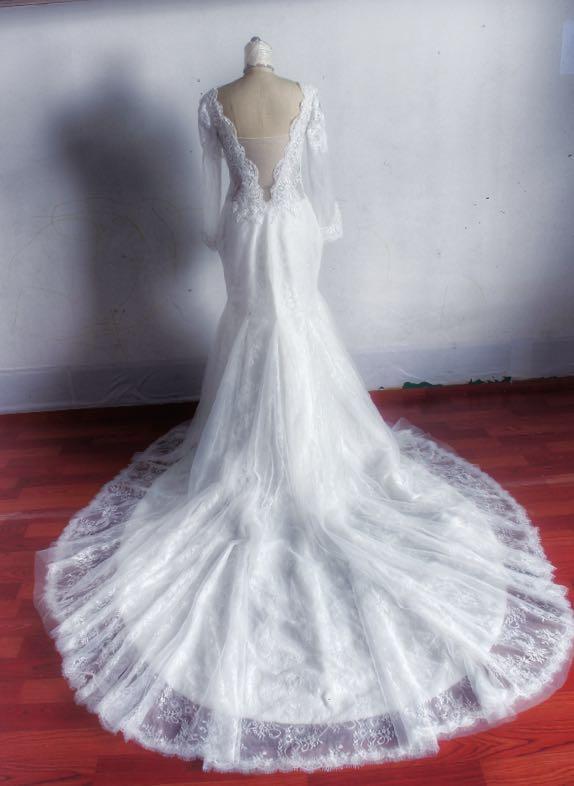 Working on MeJeanne Couture Custom Wedding Dress - Ashley Dahlberg Laroche